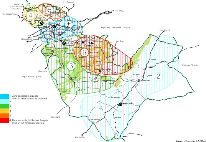 Disparités territoriales dans la région de Fès Boulemane