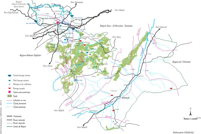 Système hydrographique de la région de Fès Boulemane