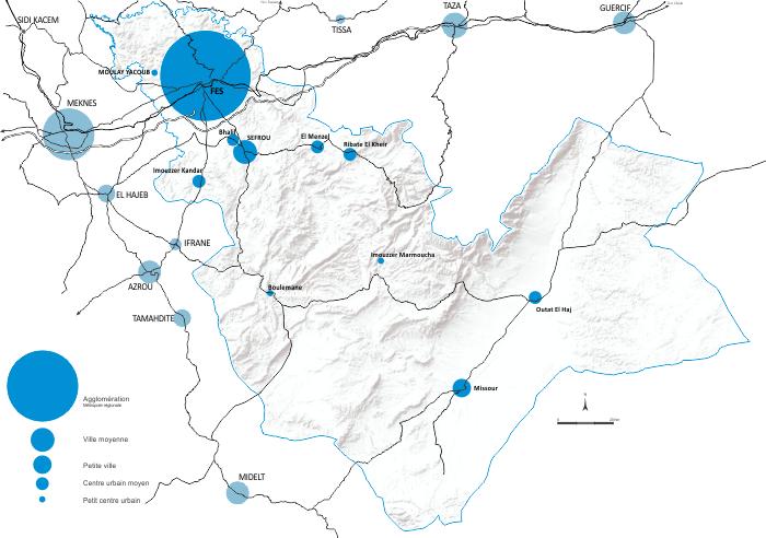 Villes et Villages de la région de fès boulemane