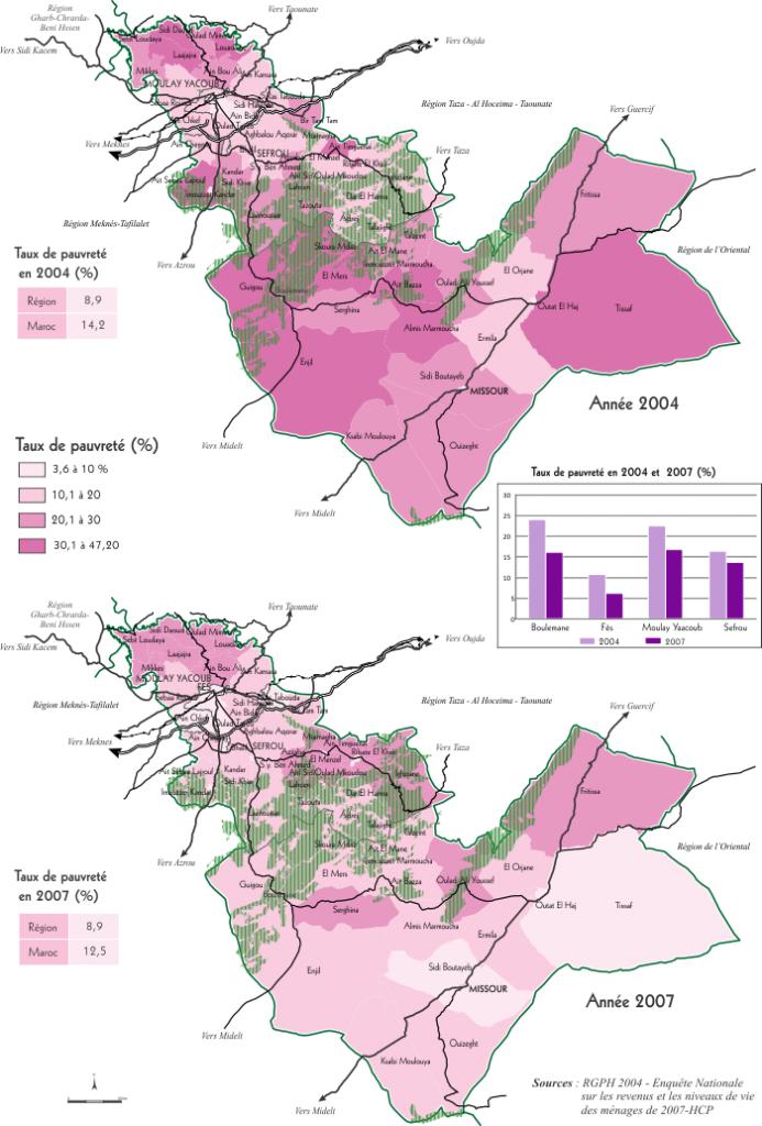 Evolution de la pauvreté en milieu rural dans la région de Fes Boulemane entre 2004 et 2007